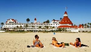 Beach at Hotel Del Coronado, San Diego, CA - Perfect with chilled Chilean red wine