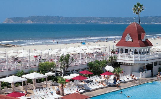Beach at Hotel Del Coronado, CA