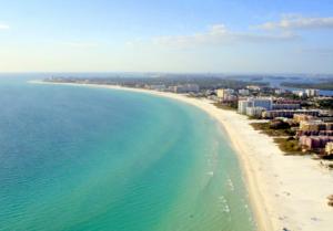 Siesta Key Beach, FL - We recommend our white vegan wine