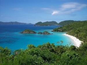 Trunk Bay, St John, U.S. Virgin Islands - A paradise with vegan white wine