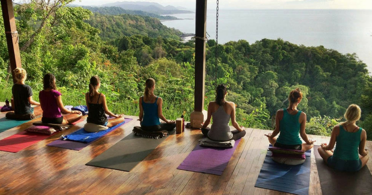 Natura Wines lists exotic yoga retreats to enjoy with sustainable wines.