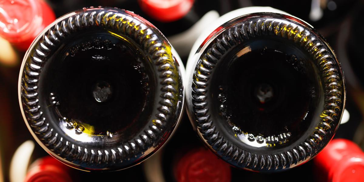 bottom of wine bottle