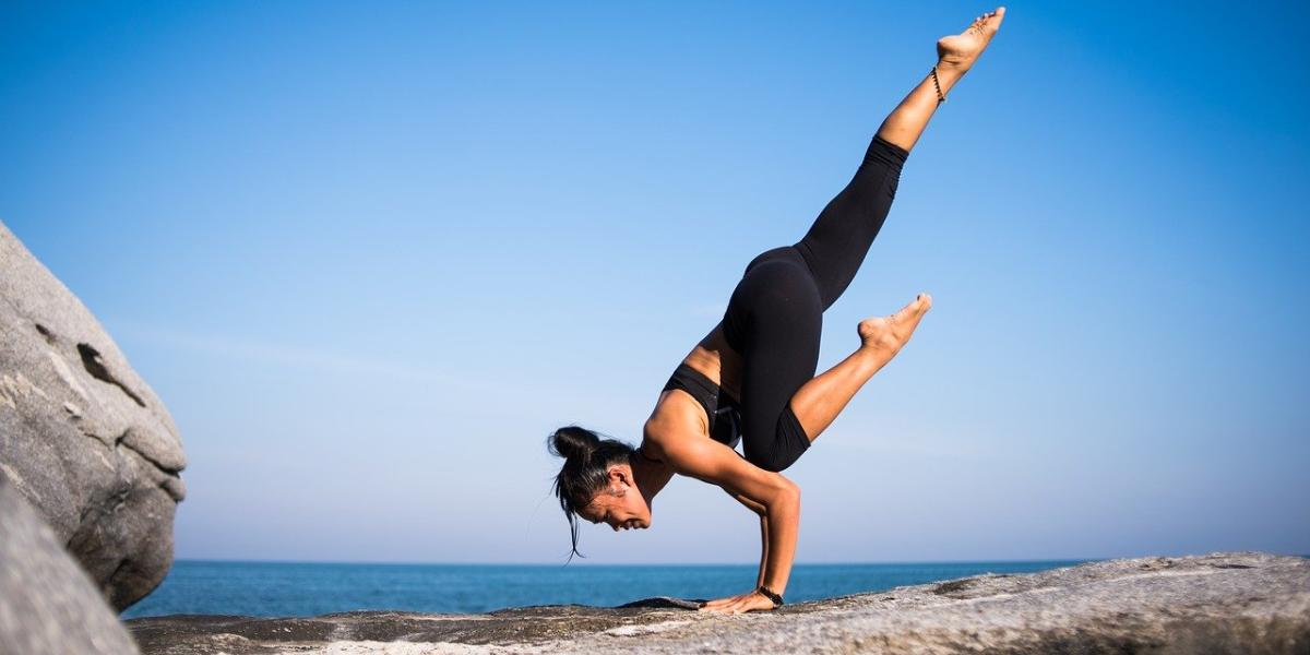 Yoga Pose On The Beach