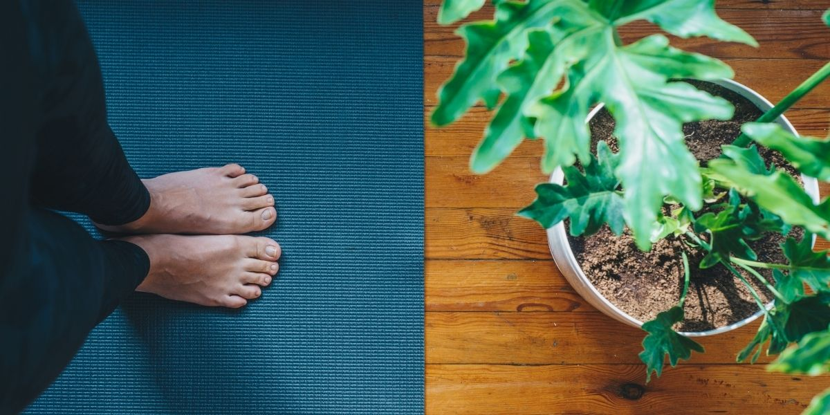 A woman practicing one of the best types of yoga for anxiety