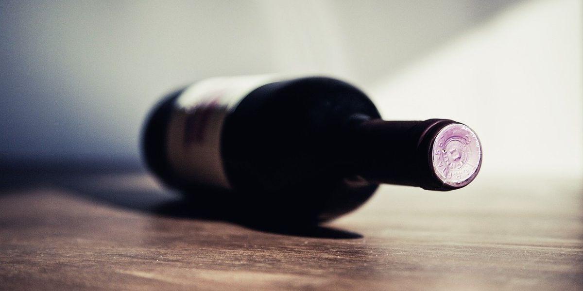 Wine Bottle On Its Side