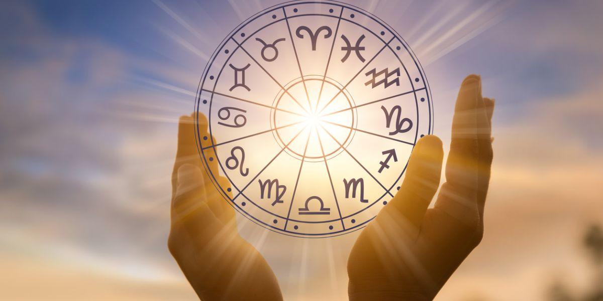 Zodiac signs inside of horoscope circle astrology and horoscopes
